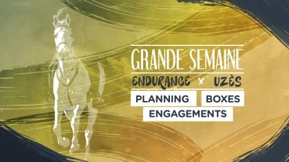 Grande Semaine d'Uzès : Planning, Boxes, Engagements, Départs Groupés