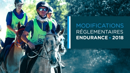 Modifications réglementaires Endurance 2018