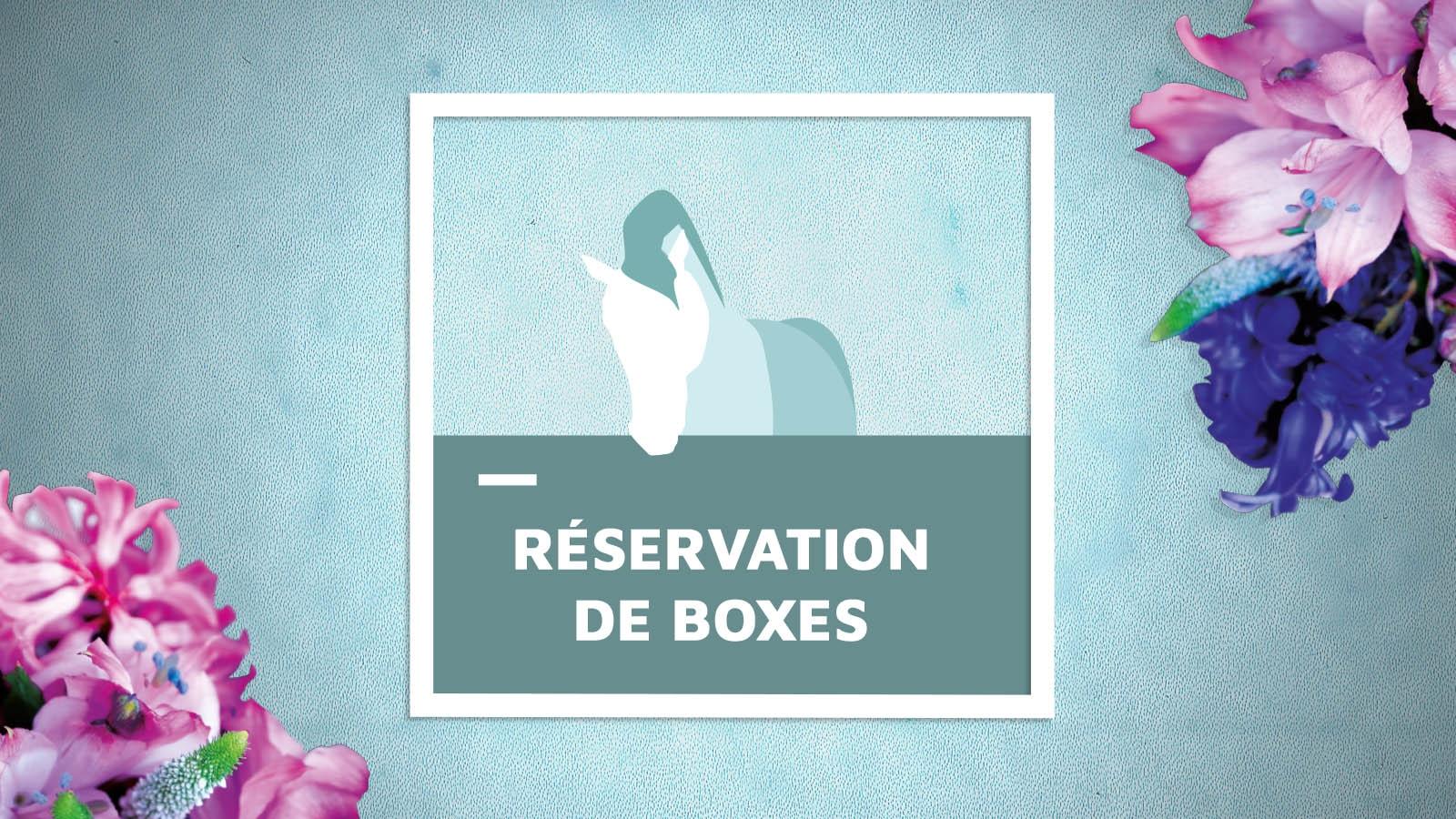 Fontainebleau 2018 : Réservation de boxes