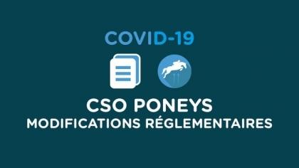 CSO Poneys : Modifications réglementaires à partir du 8 juin 2020