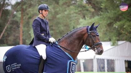 James Bond de Massa sacré Champion des 6 ans de Dressage à Fontainebleau